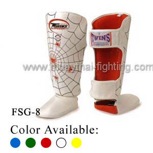 Twins Special Fancy Shin Protection Spider Pattern FSG-8
