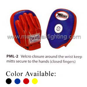 Twins Special Punching Mitts Closed Finger Velcro PML-2 Blue Red