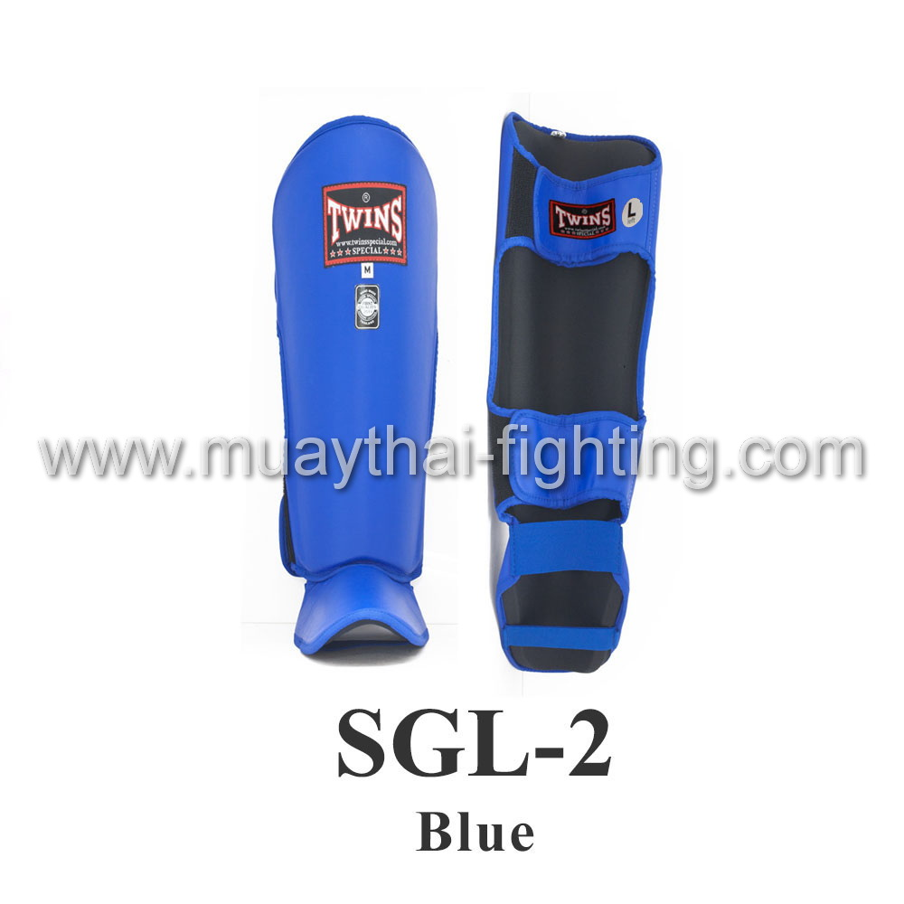 Twins Special Shin Protection SGL-2 Blue