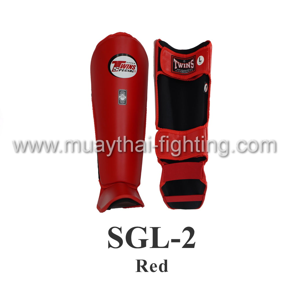 Twins Special Shin Protection SGL-2 Red