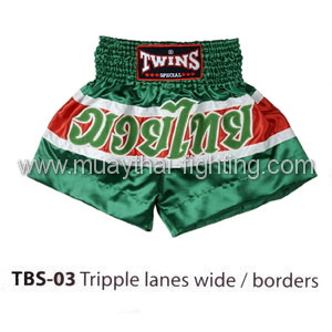 Twins Special Muay Thai Shorts Tripple Lanes Wide/borders TBS-03