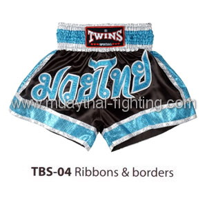 Twins Special Muay Thai Shorts Ribbons & borders TBS-04