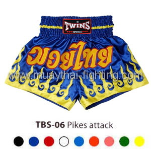 Twins Special Muay Thai Shorts Pikes Attack TBS-06