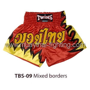 Twins Special Muay Thai Shorts Mixed borders TBS-09