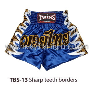 Twins Special Muay Thai Shorts Sharp teeth borders TBS-13