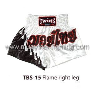 Twins Special Muay Thai Shorts Flame right leg TBS-15