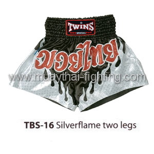 Twins Special Muay Thai Shorts Silverflame two legs TBS-16