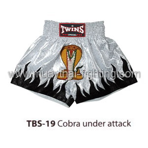Twins Special Muay Thai Shorts Cobra under attack TBS-19
