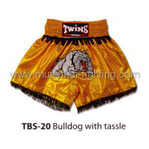 Twins Special Muay Thai Shorts Bulldog with tassle TBS-20
