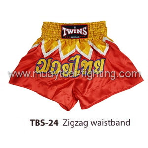 Twins Special Muay Thai Shorts Zigzag waistband TBS-24