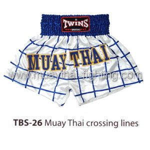 Twins Special Muay Thai Shorts Muay Thai crossing lines TBS-26