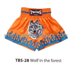Twins Special Muay Thai Shorts Wolf in the forest TBS-28