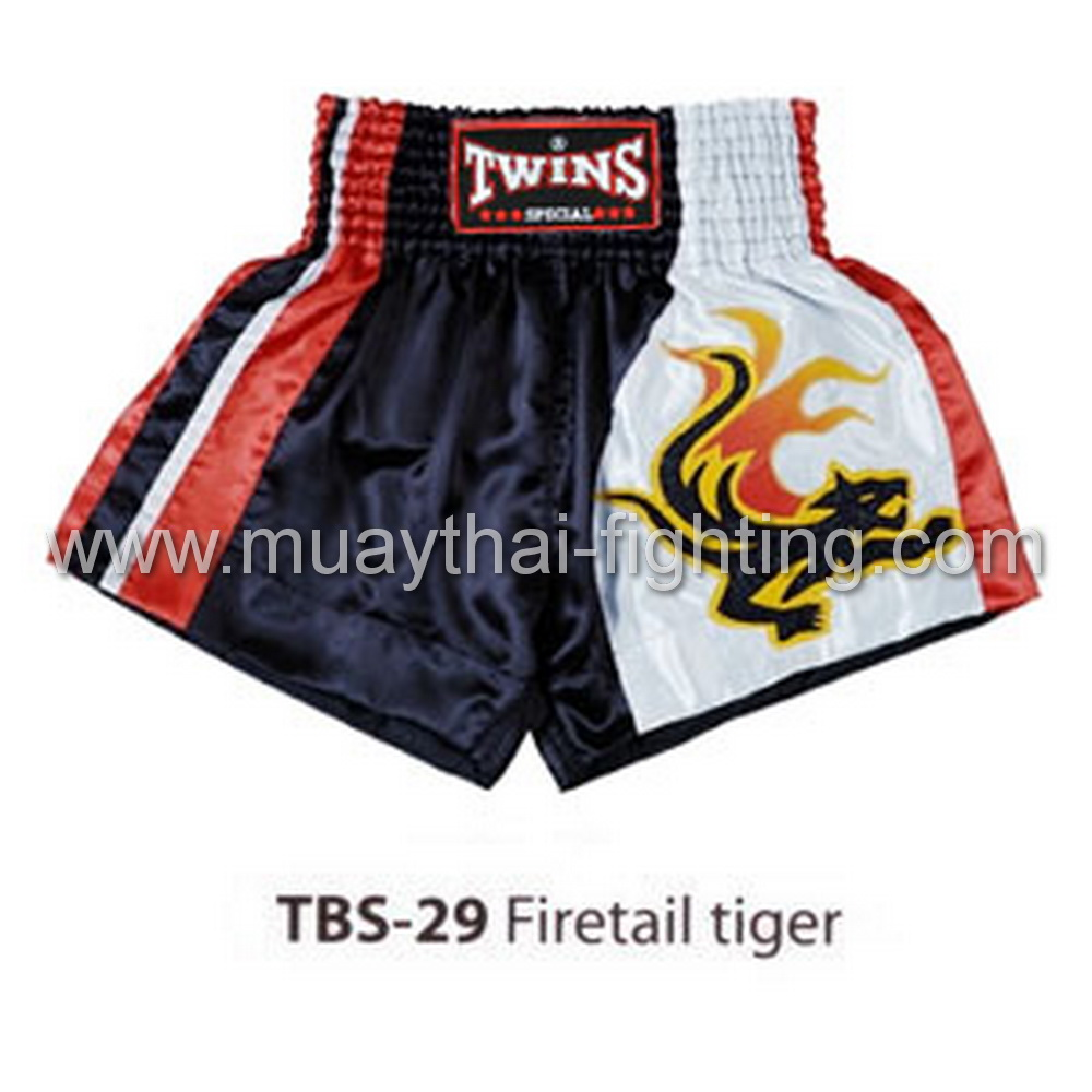 Twins Special Muay Thai Shorts Firetail tiger TBS-29