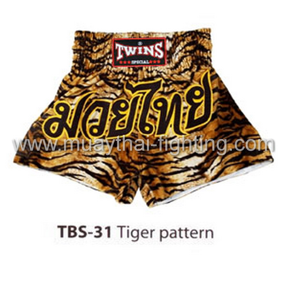 Twins Special Muay Thai Shorts Tiger Pattern TBS-31