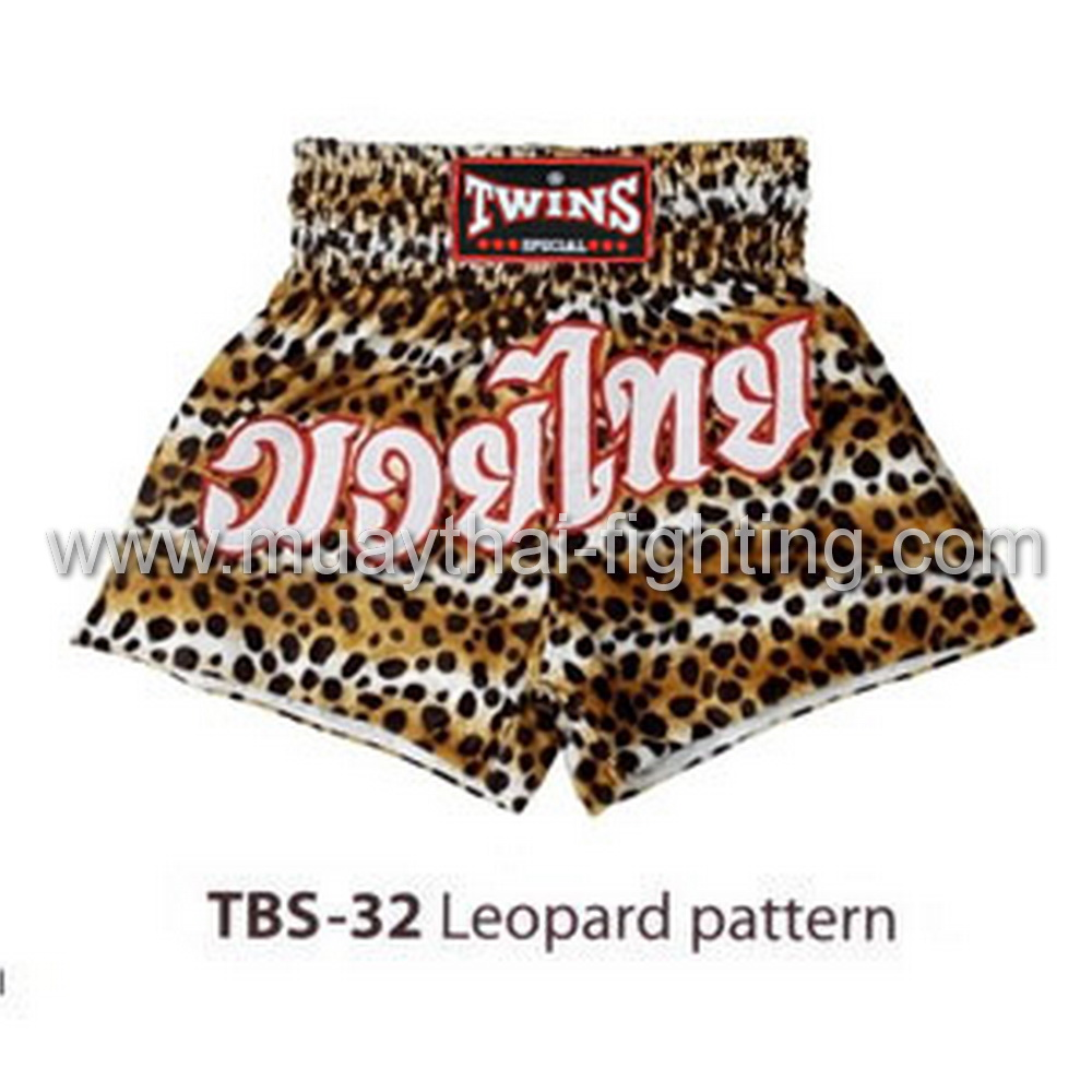 Twins Special Muay Thai Shorts Leopard Pattern TBS-32