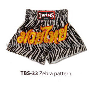 Twins Special Muay Thai Shorts Zebra Pattern TBS-33