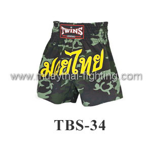 Twins Special Muay Thai Shorts Army Green TBS-34