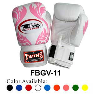 Twins Special Fancy Boxing Gloves Leaf Pattern FBGV-11